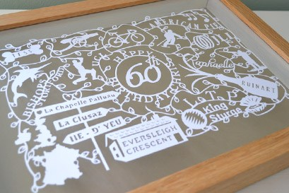 60th Celebration memory keepsake