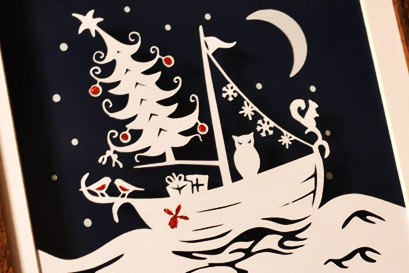 christmas papercut art