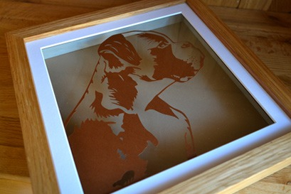 boxer dog papercut