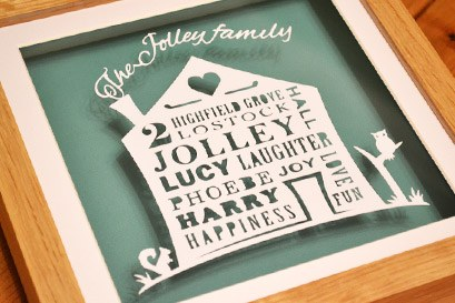 Personalised family memories house