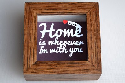 Home is wherever you are paper cut