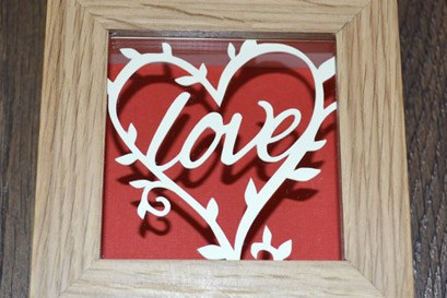love themed minature papercut