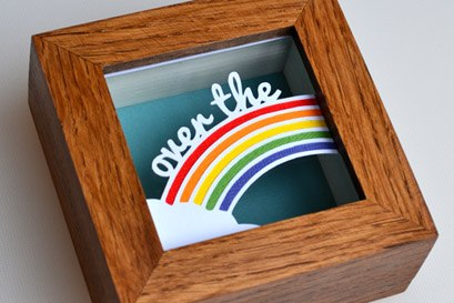 Over the rainbow papercut
