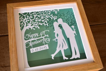 bespoke papercut framed artwork