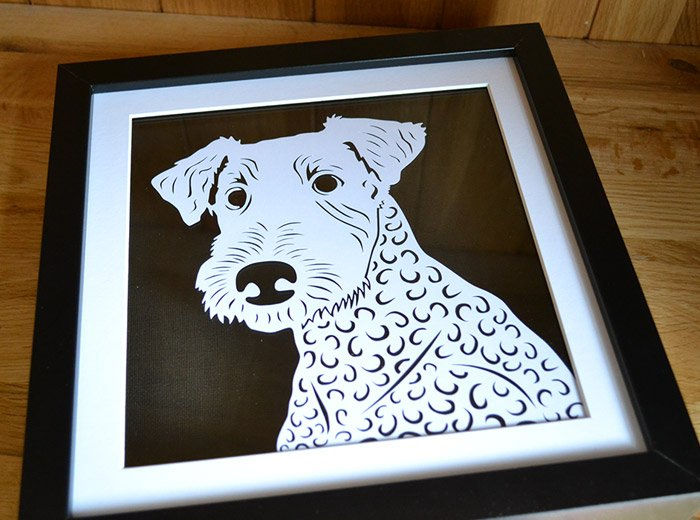 Airedale Terrier portrait dog art
