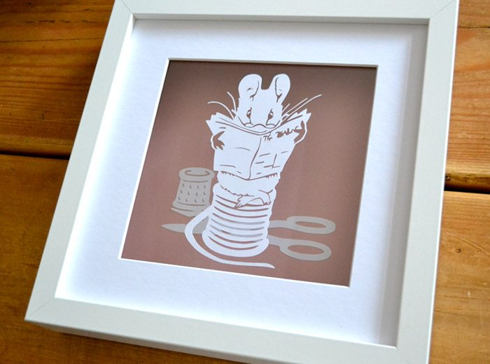 framed Beatrix Potter design