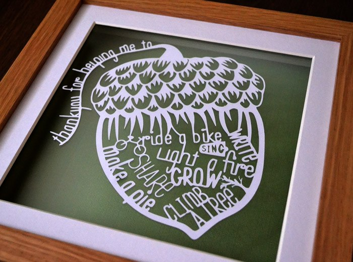 Personalised teacher art present