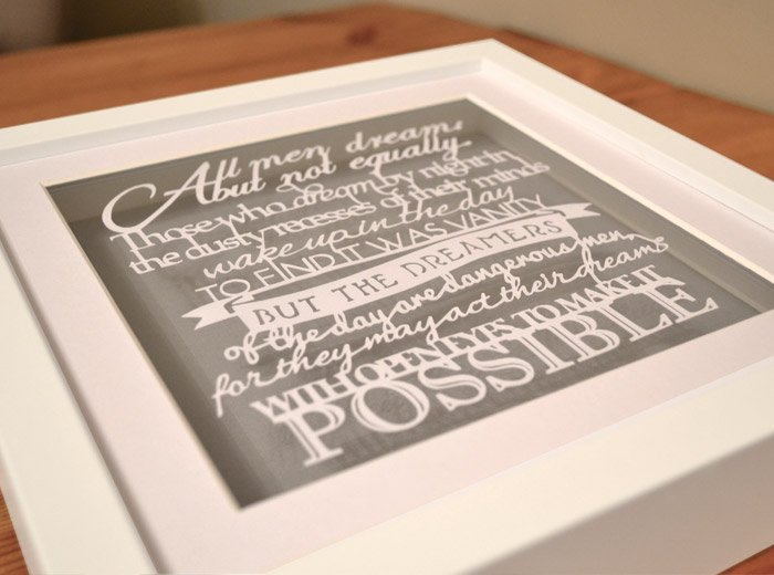 personalised phrases & famous sayings art
