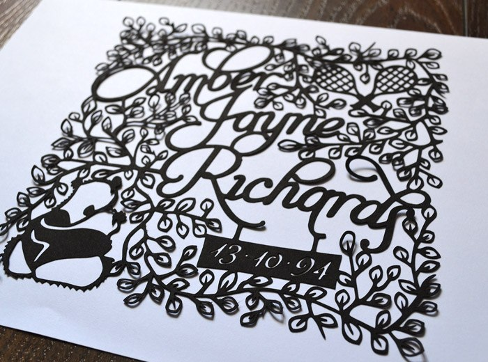 Ideal papercutting Birthday gift