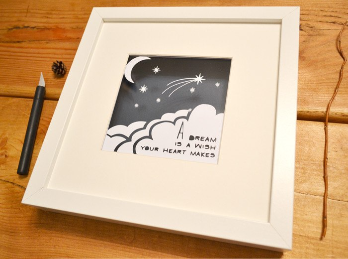 dream is a wish papercut birthday, christmas gift