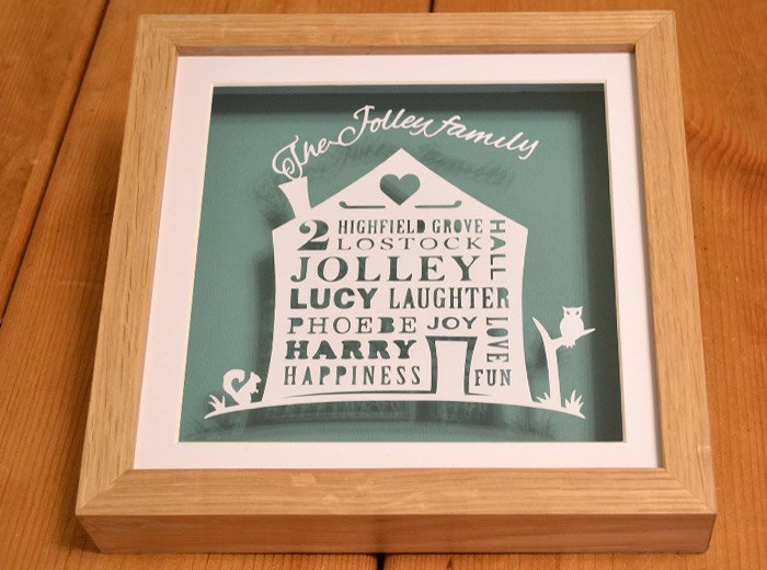 personalised family names art