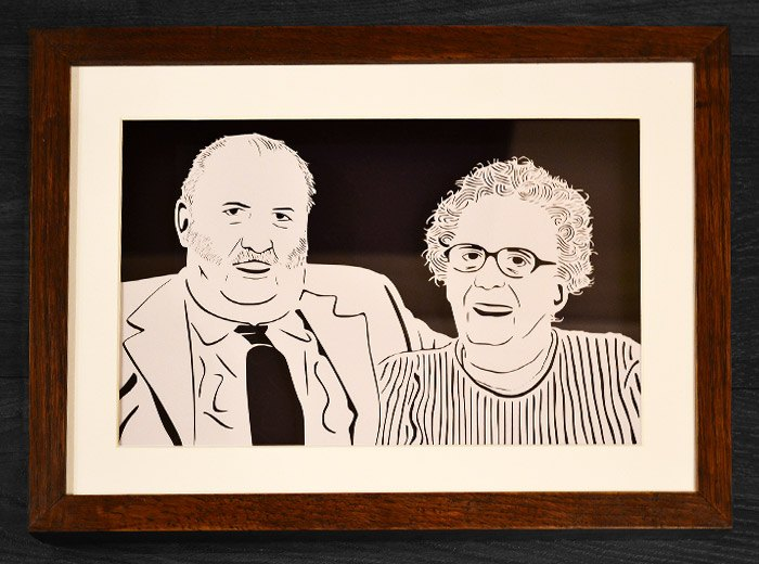 Grandparents portrait gift