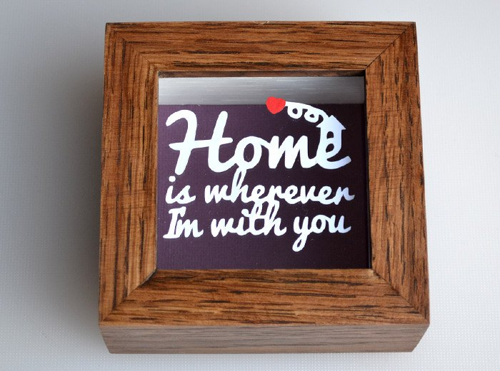 Home is wherever im with you Papercut