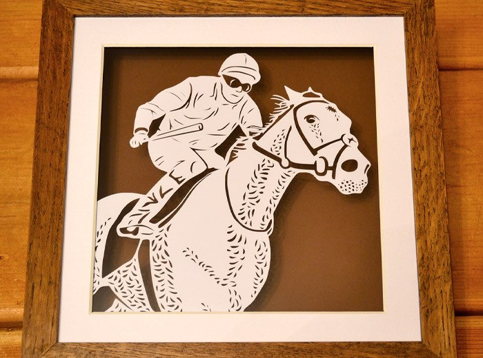 Horse and Jockey personalised art