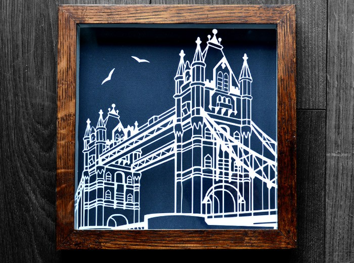 Tower bridge papercutting