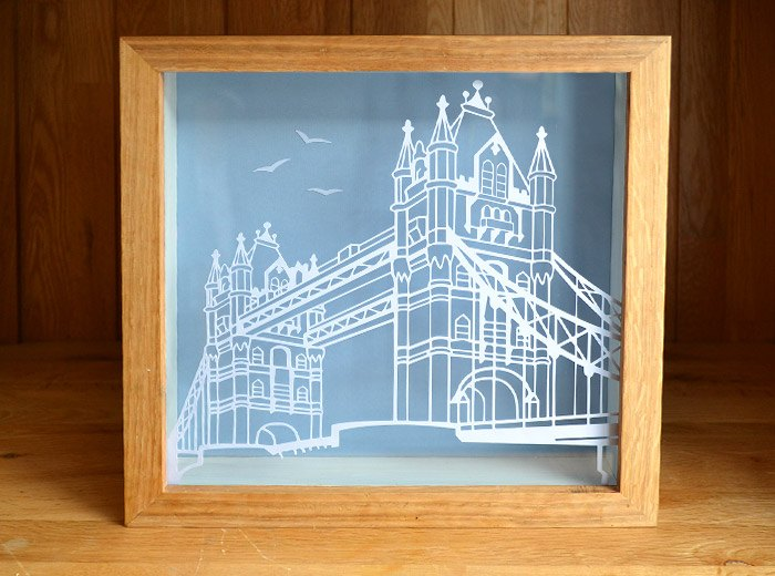 London Bridge Papercut