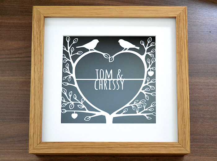 love tree design paper cut art