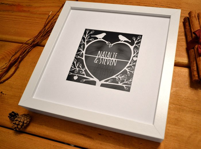 personalised paper cut design