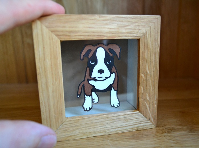 Puppy Boxer dog artwork
