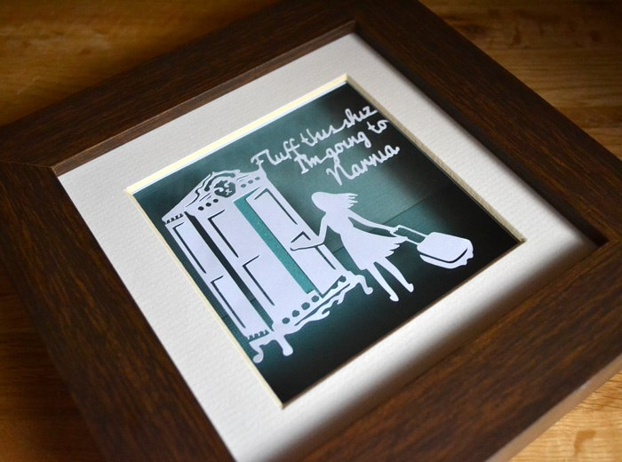 escape to Narnia papercut