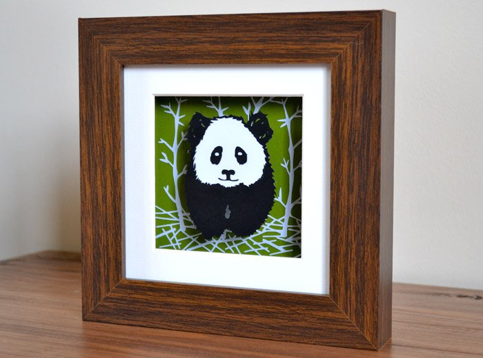 Panda framed art