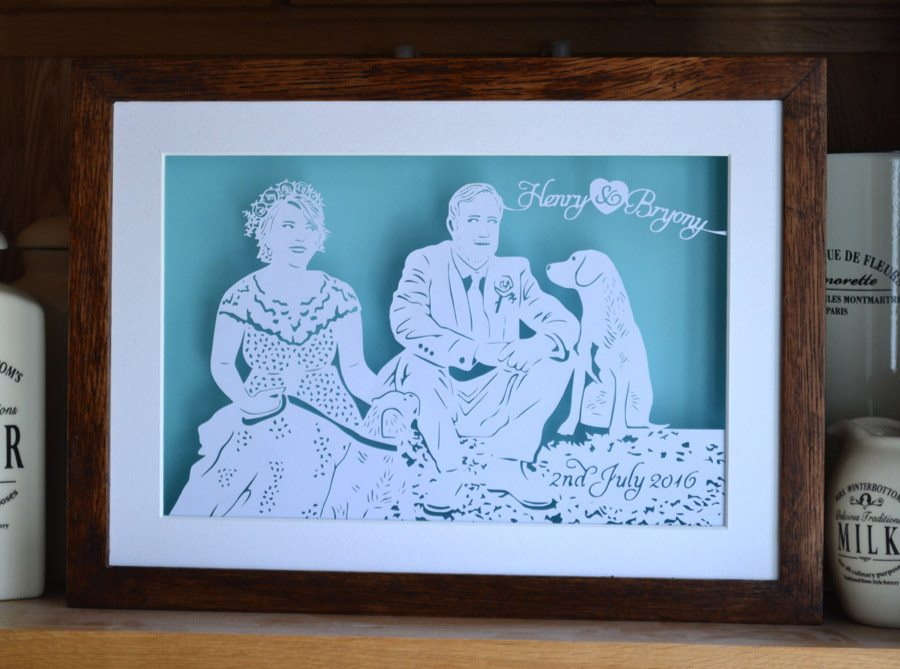 Papercutting anniversary wall art