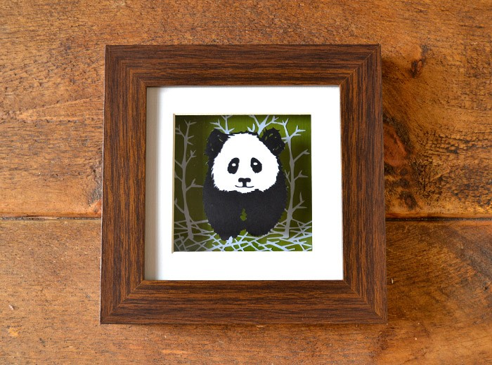 panda framed papercut design