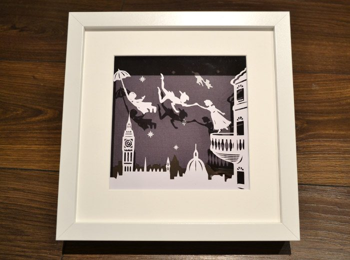 original peter pan framed artwork