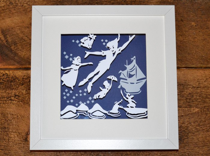 original peterpan & Wendy framed artwork