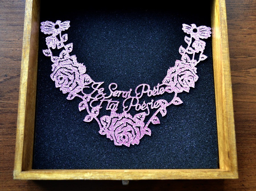 20cm necklace wooden gift box
