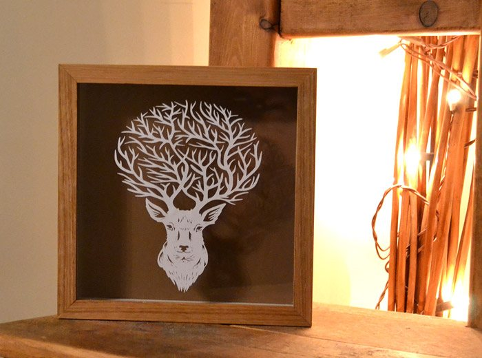 Framed Stag Art