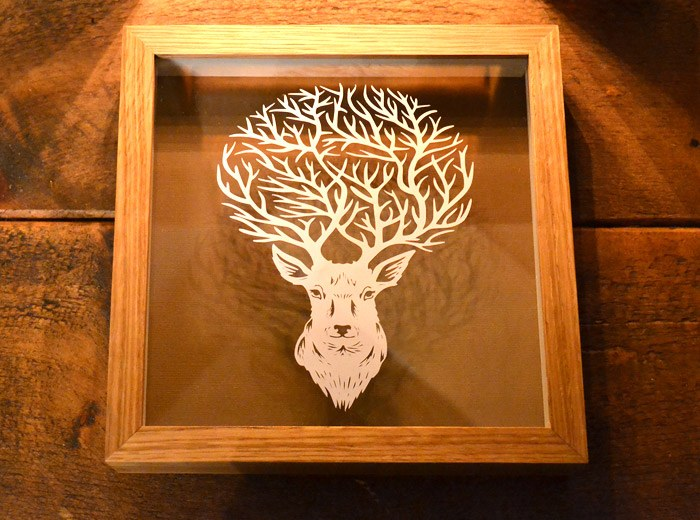 Deer papercutting craft