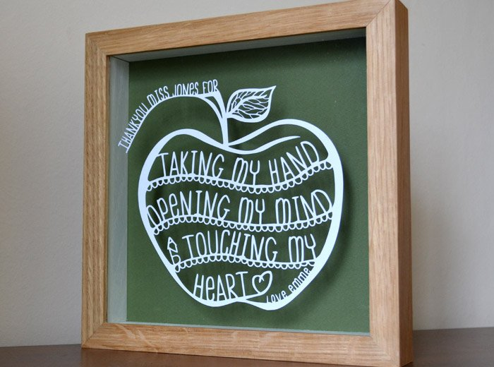 Personalised gift for a teacher
