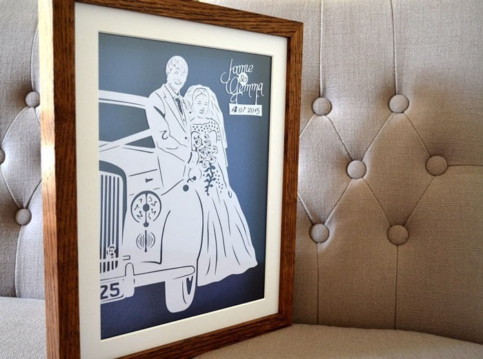 Wedding car paper art