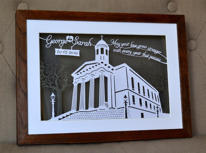 Church paper cutting