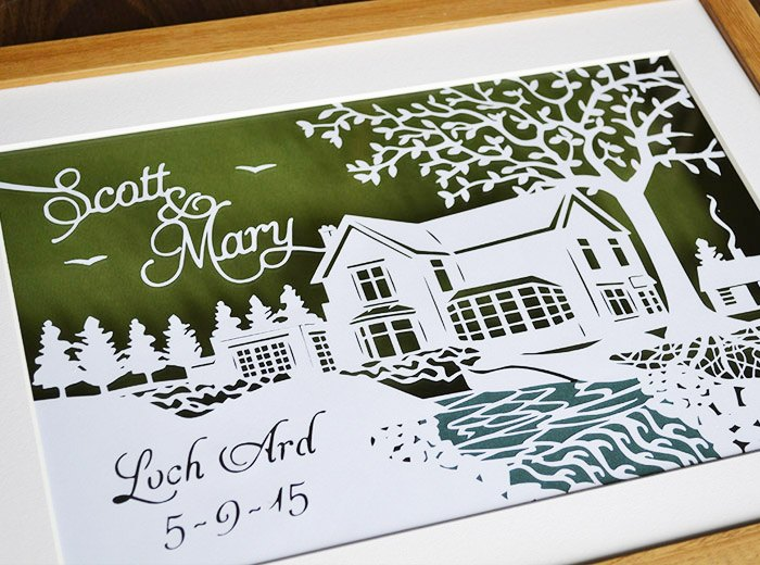 Loch Ard wedding scene
