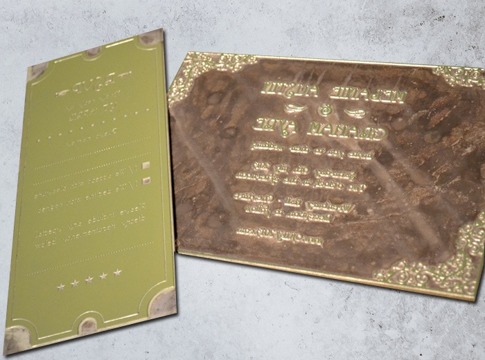 wedding invite letterpress printing plates