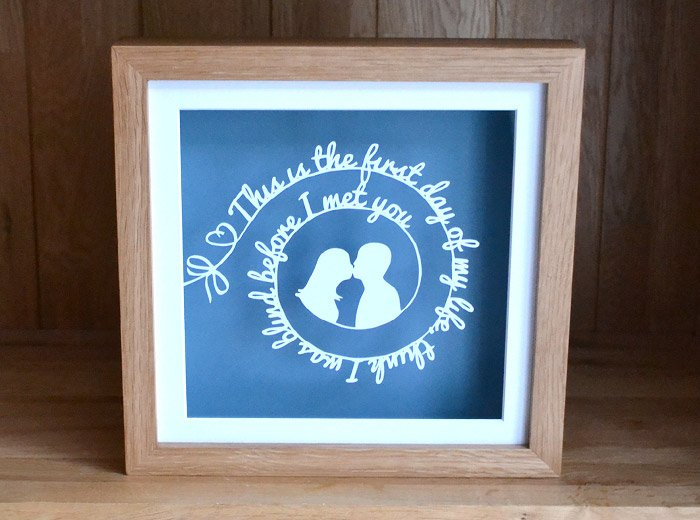 personalised wedding lyric gift
