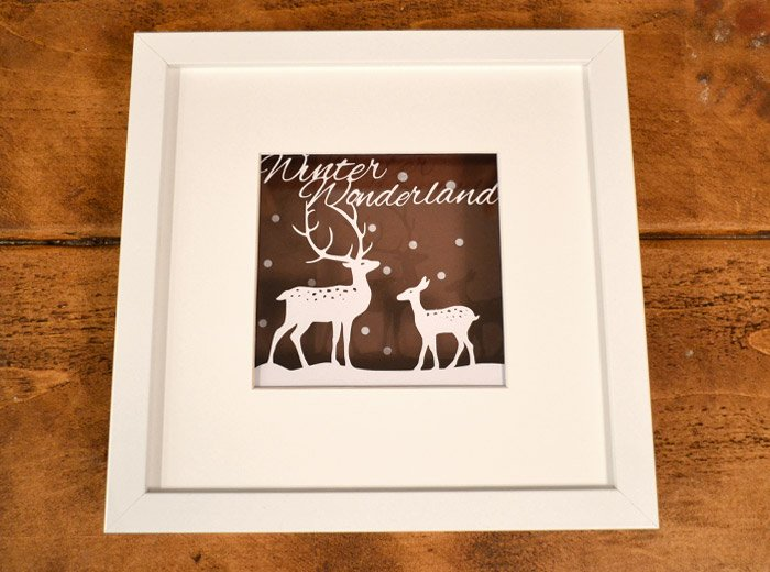 winter wonderland design paper cut
