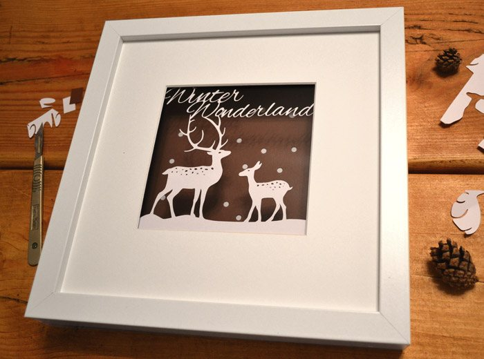 reindeer paper cut design