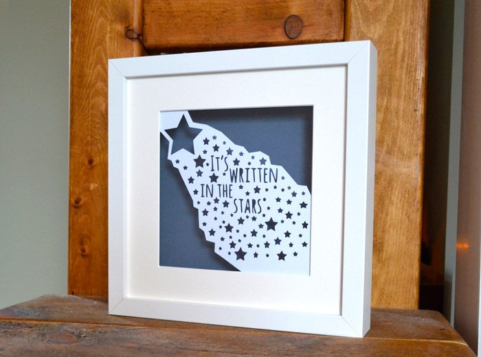 stars framed papercut
