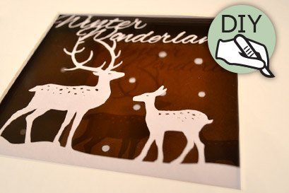 Christmas papercut template