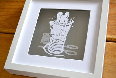 Beatrix Potter mouse papercut