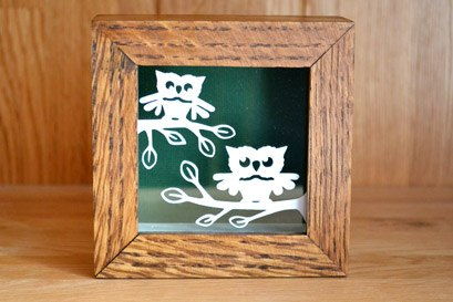 owl minature papercut