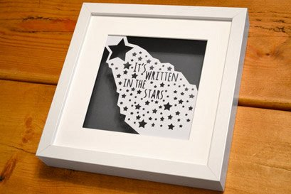 written in the stars papercut